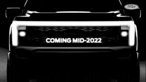 2022 Ford F-150 electric front teaser TES