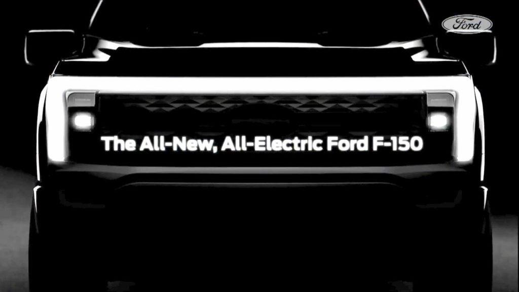 Ford F150 electric teaser or Ford F150 Lightning teaser