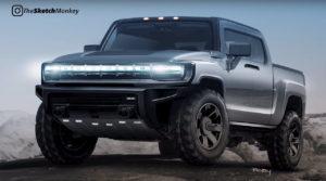 2022 GMC Hummer EV SUT pickup truck rendering