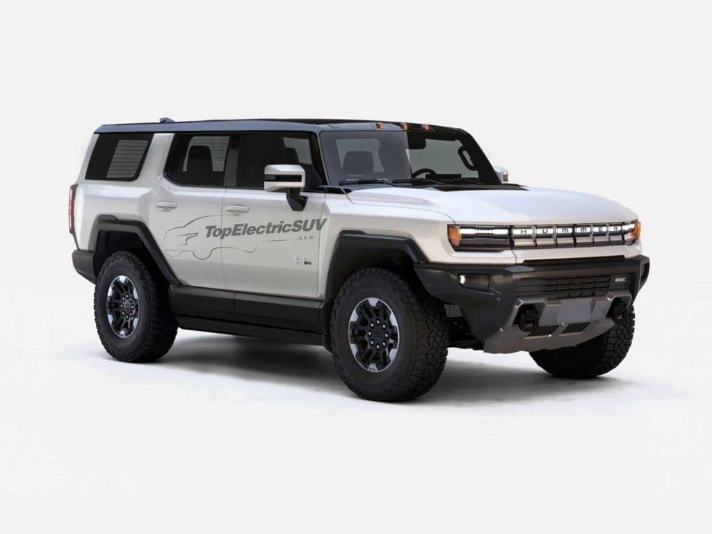 2022 GMC Hummer EV SUV rendering topelectricsuv.com