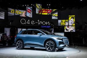 Audi Q4 e-tron concept front quarters live image