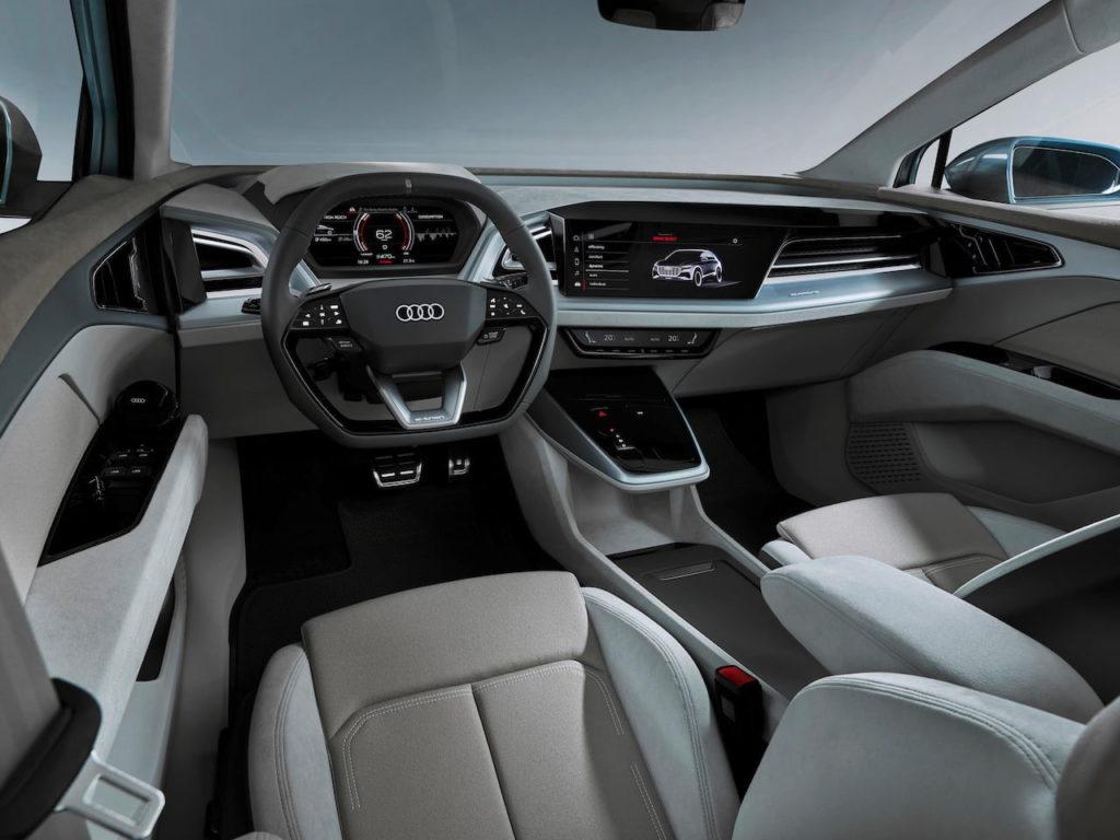 Audi Q4 e-tron concept interior dashboard