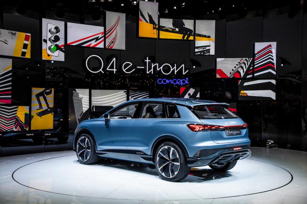 Audi Q4 e-tron concept rear quarters