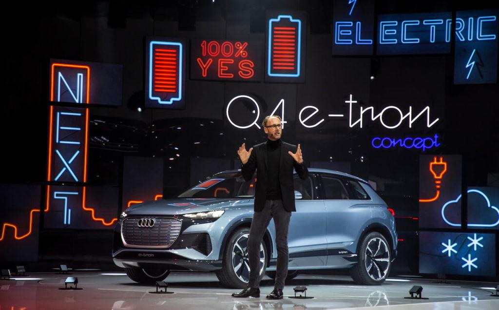 Audi Q4 e-tron concept world premiere Geneva