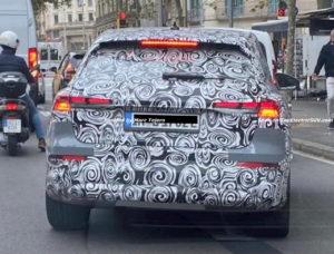 Audi Q4 e-tron rear spy shot