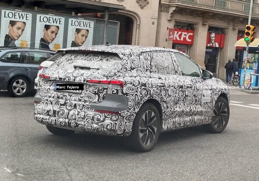 Audi Q4 e-tron rear three quarters spy shot