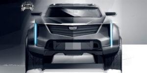 Cadillac EV pickup truck sketch