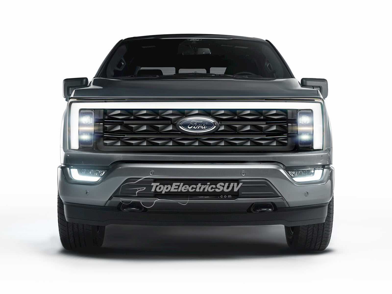 Ford F-150 Electric rendering topelectricsuv.com