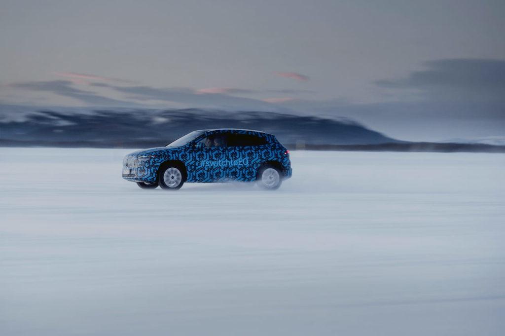Mercedes EQA testing