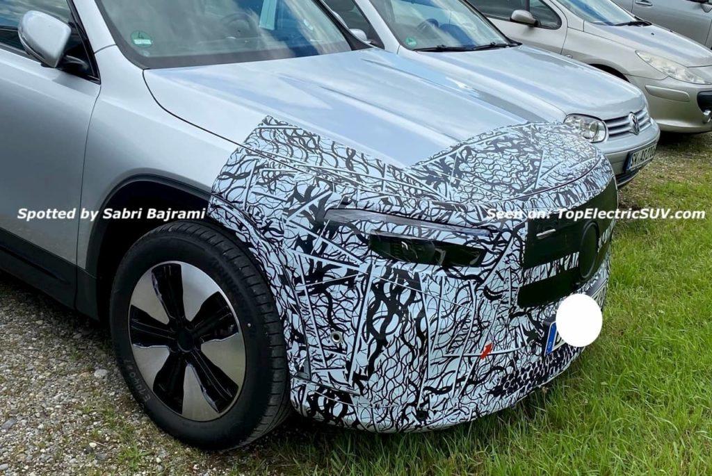 Mercedes EQB front fascia spy shot TES