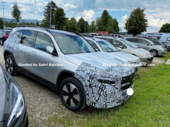 US-bound Mercedes EQB spied in Europe, to rival the Tesla Model Y