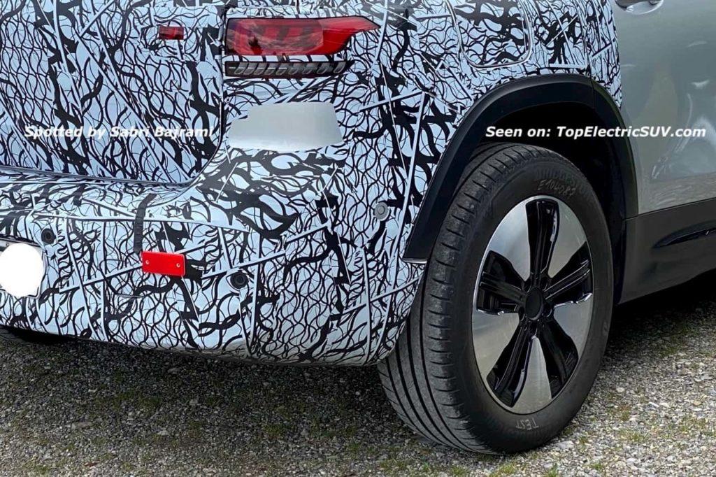 Mercedes EQB rear fascia spy shot TES