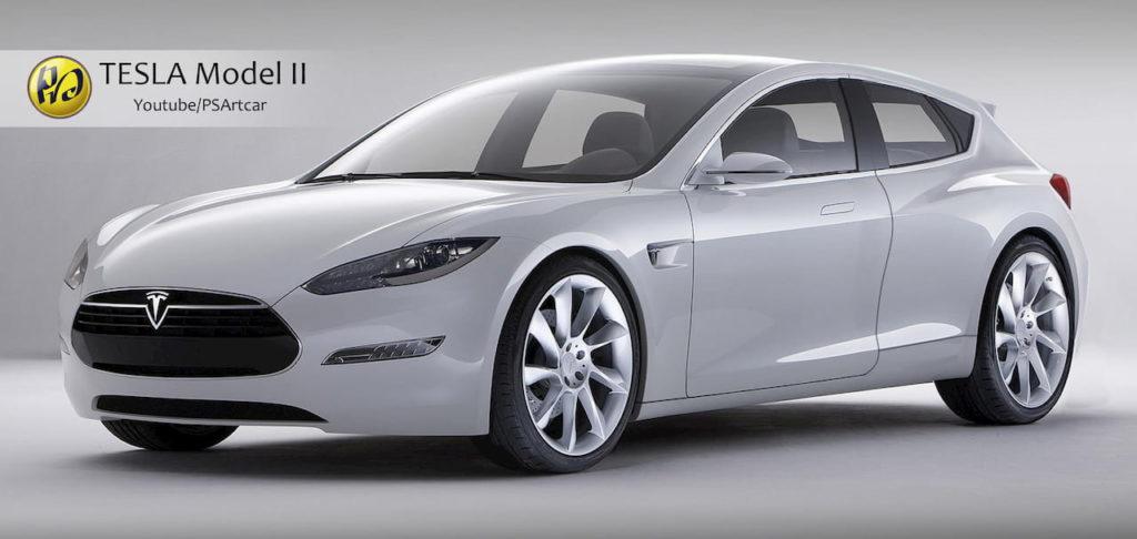 Tesla 25000 USD car render