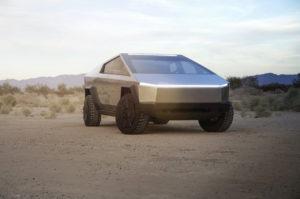 Tesla Cybertruck front quarters