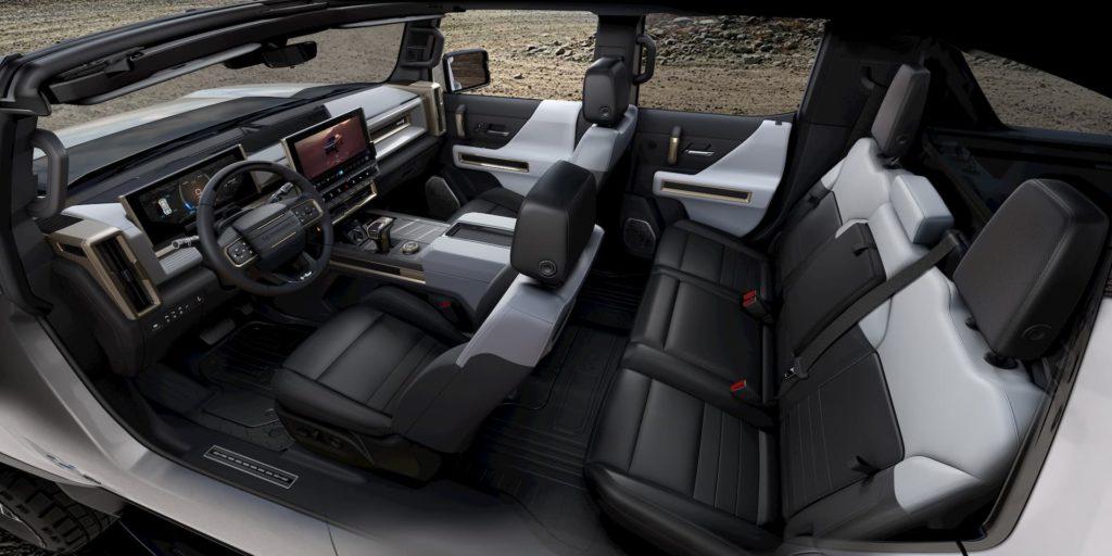 2022 GMC Hummer EV interior cabin seats