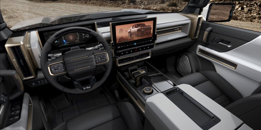 2022 GMC Hummer EV interior dashboard
