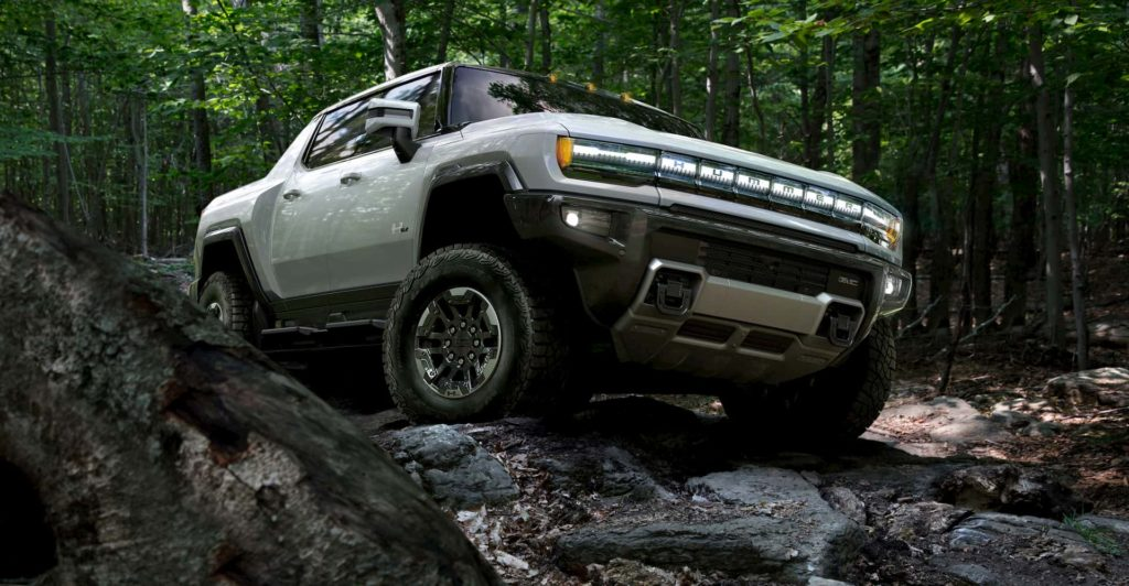 2022 GMC Hummer EV off-roading
