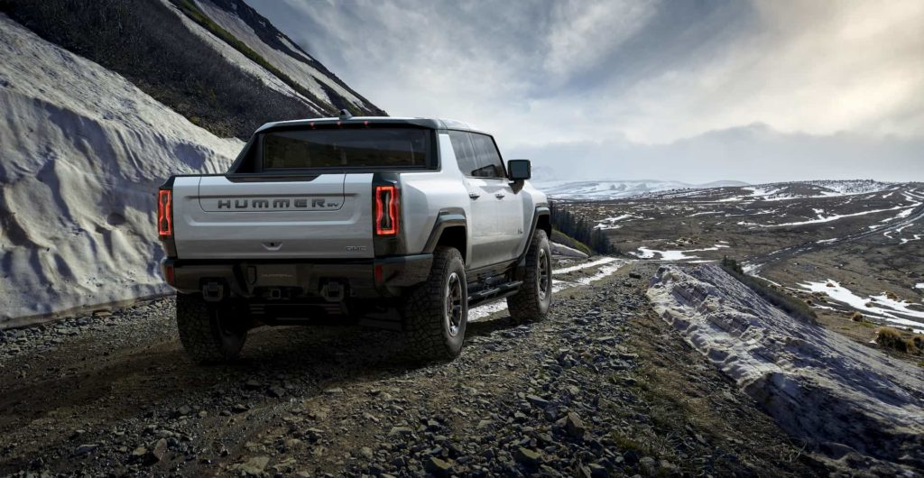 2022 GMC Hummer EV rear quarters