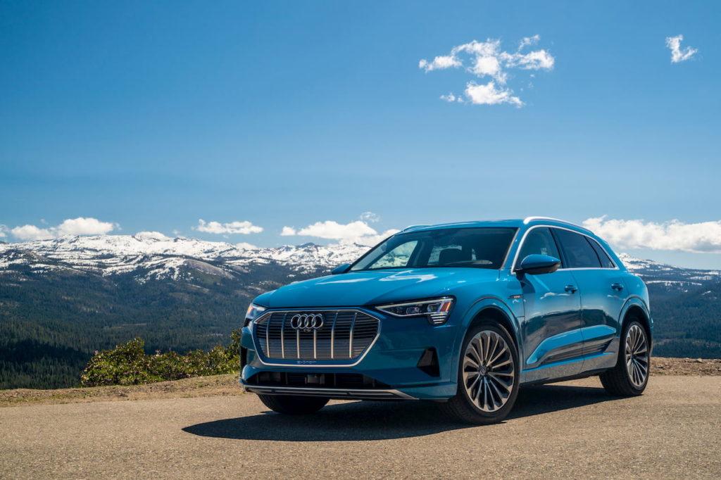 Audi e-tron front quarters