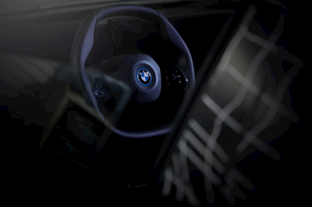 BMW iNEXT polygonal steering wheel