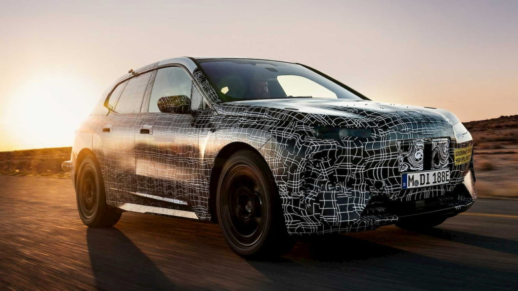 BMW iX or iNEXT prototype testing