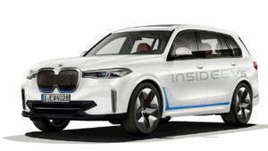 BMW iX7 BMW X7 electric rendering