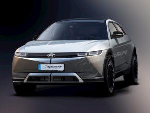 Hyundai Ioniq 5 rendering topelectricsuv.com