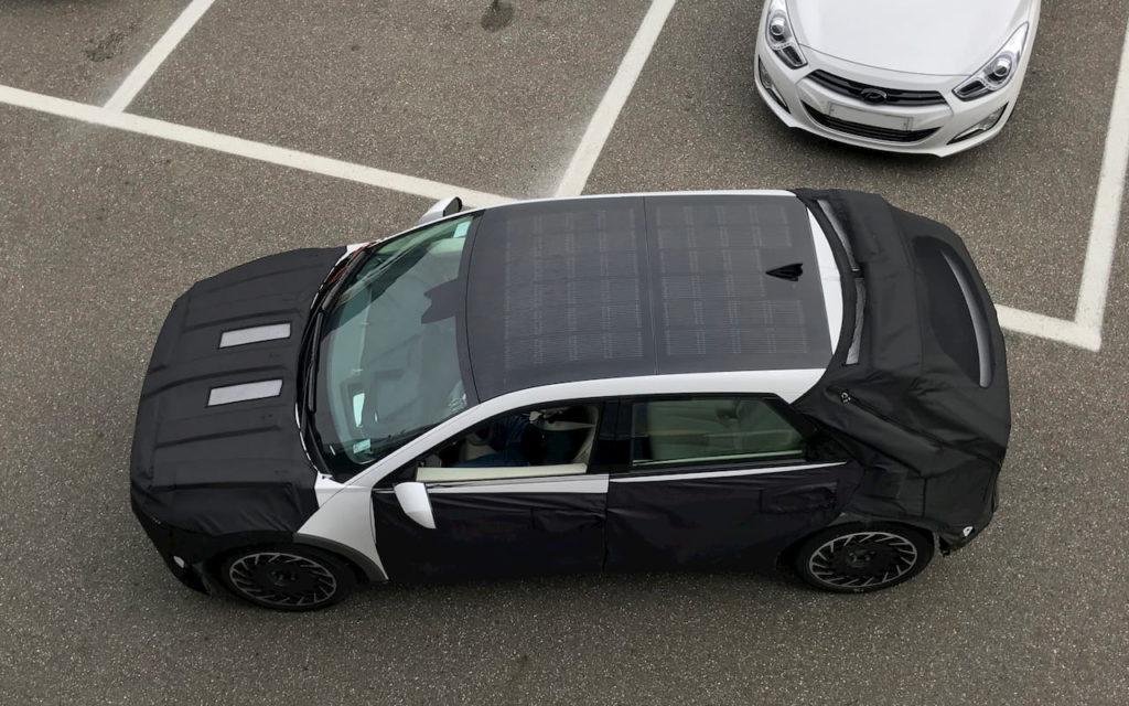 Hyundai Ioniq 5 solar roof spy shot