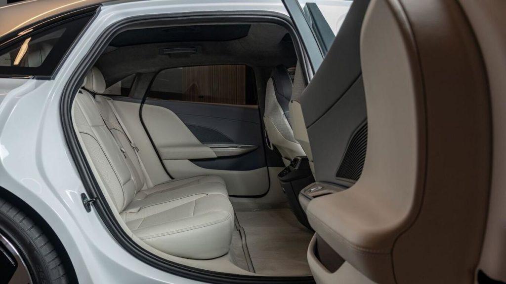 Lucid Air rear seat