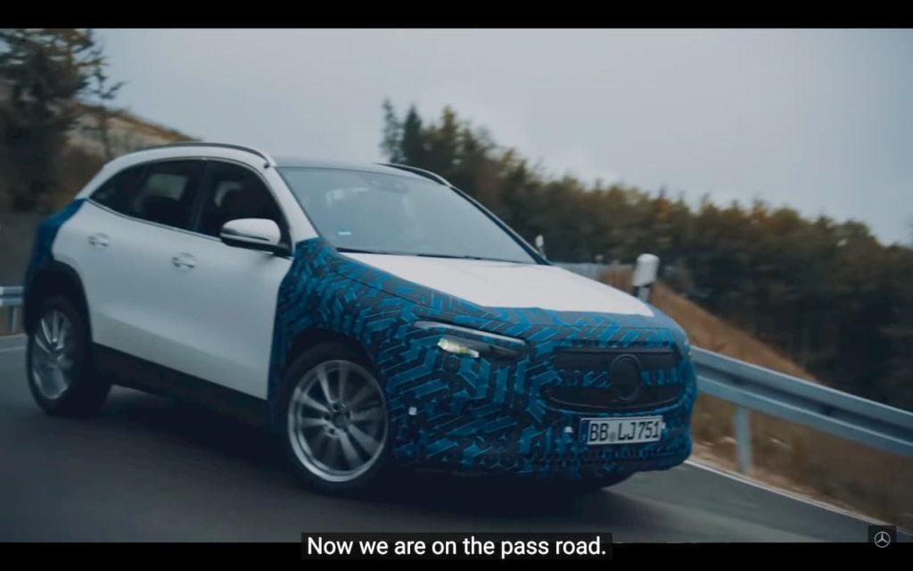 Mercedes EQA electric car testing