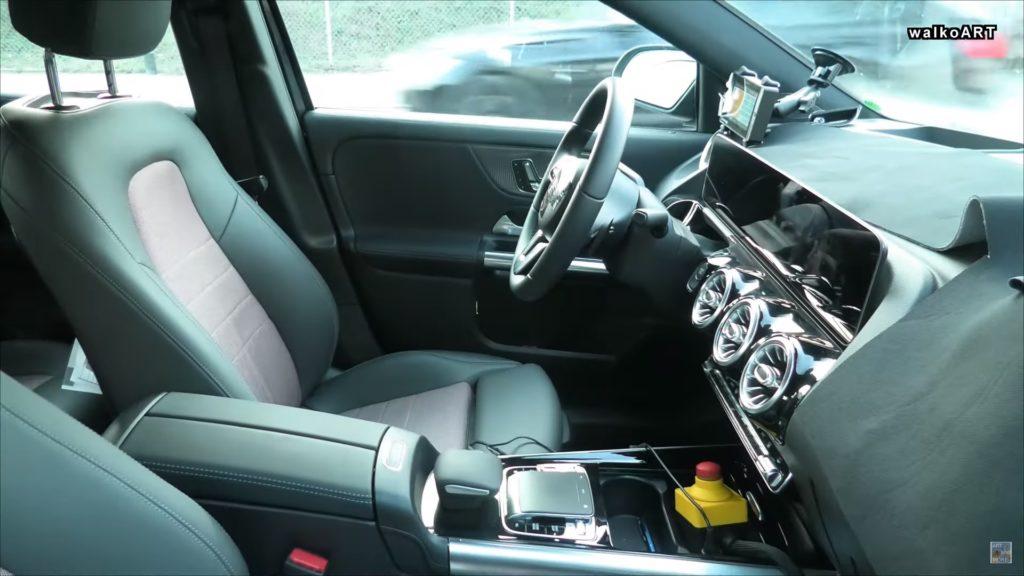 Mercedes EQA interior prototype spy shot