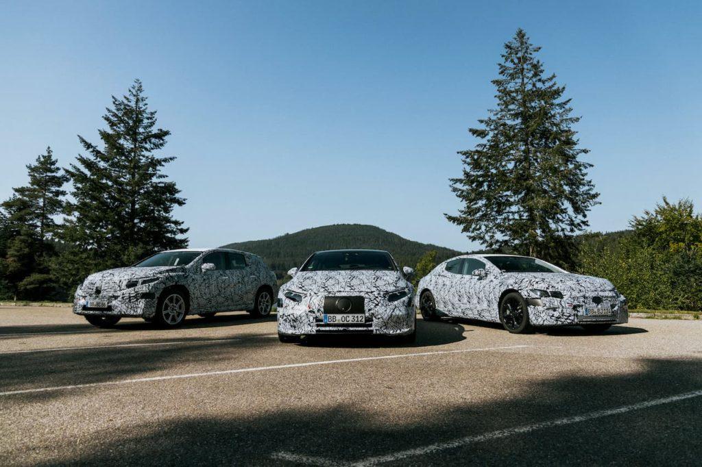 Mercedes EQS SUV EQE testing