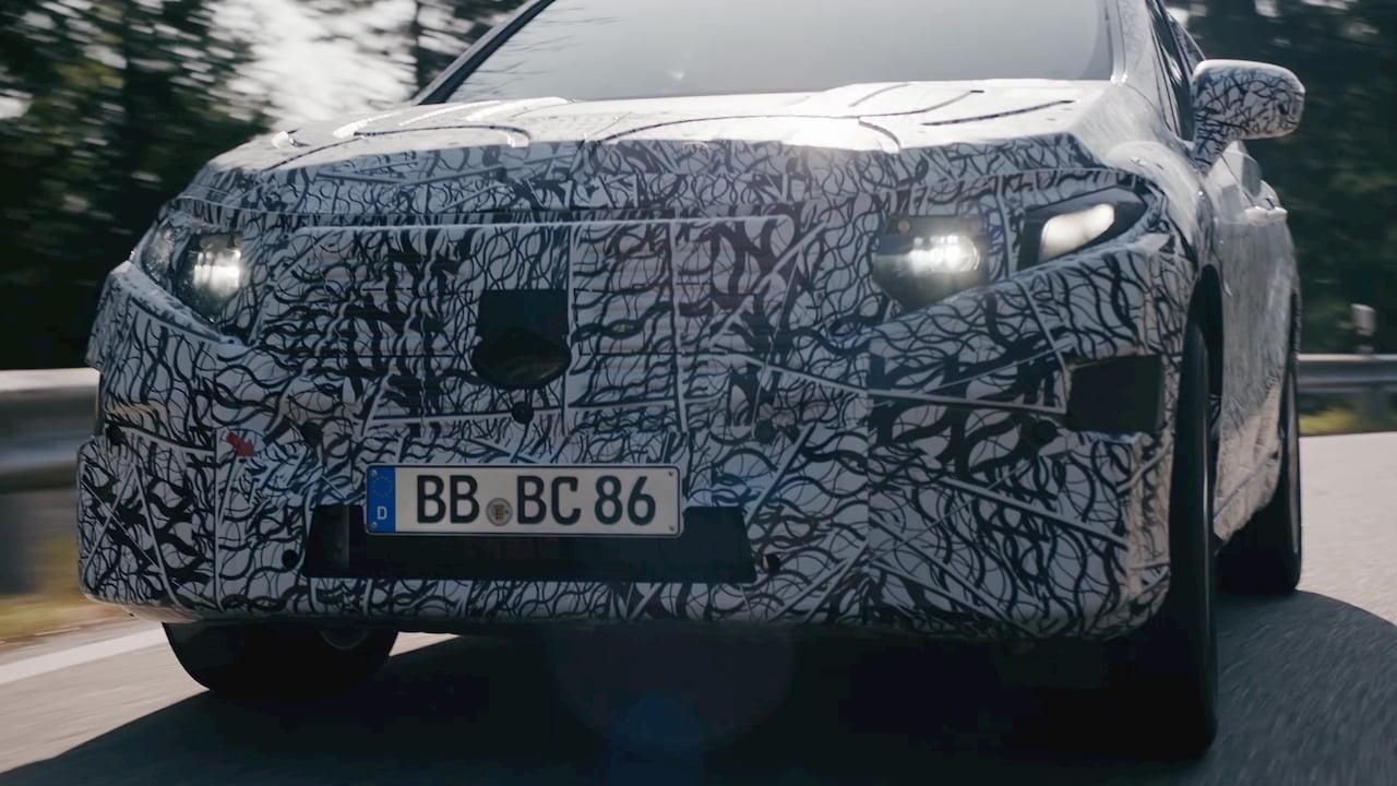 Mercedes EQS SUV front fascia