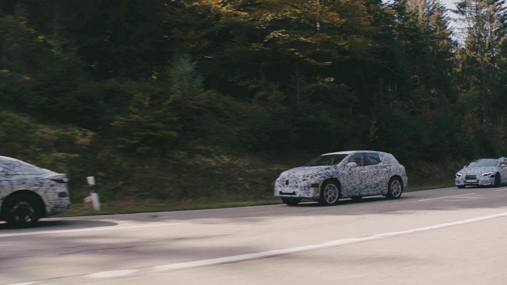 Mercedes EQS SUV spied