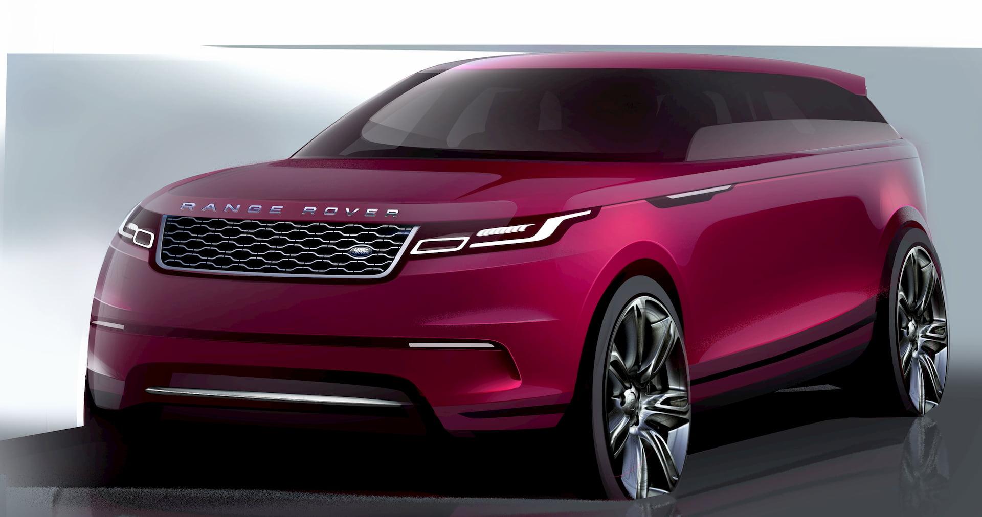 Range Rover Velar sketch teaser