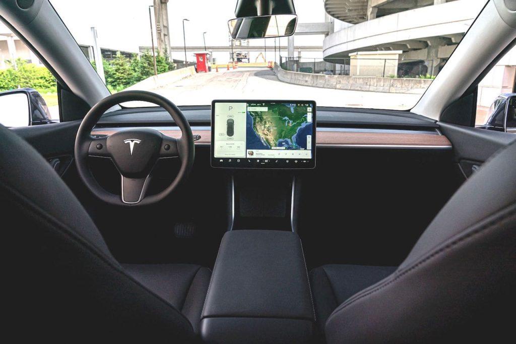 Tesla Model Y interior dashboard