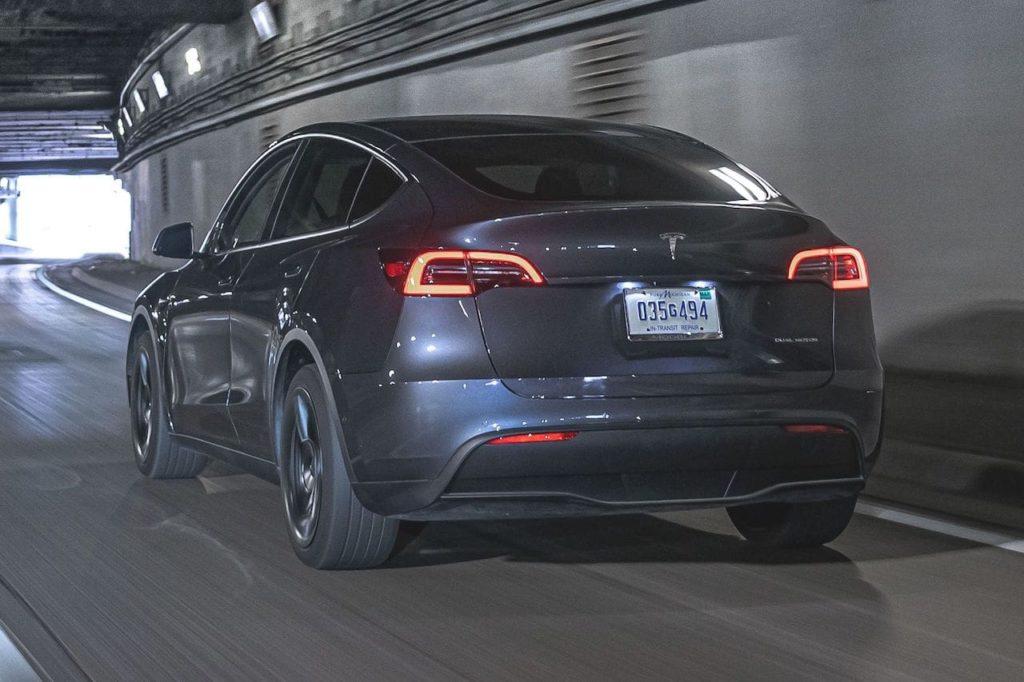 Tesla Model Y rear three quarters