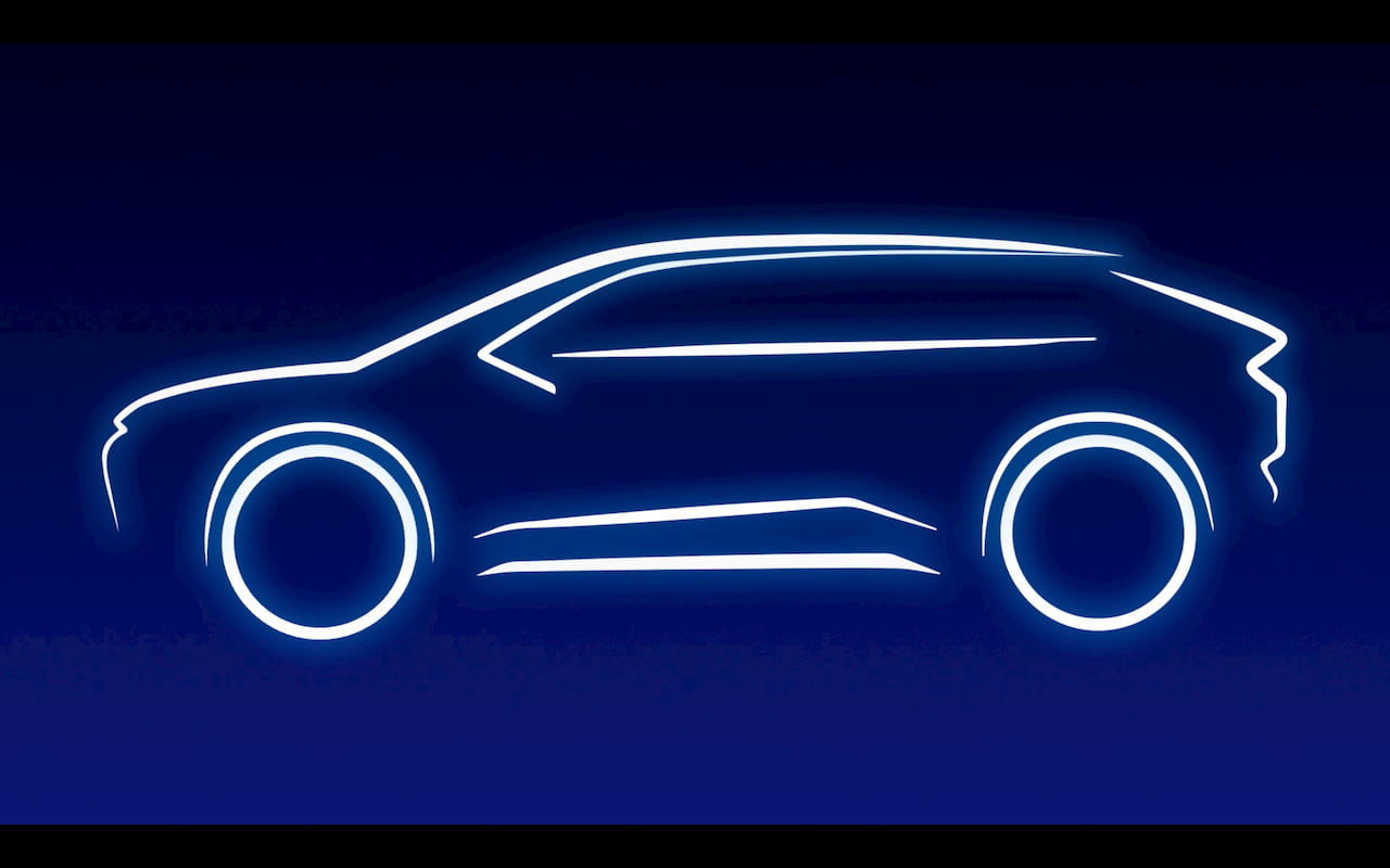 Toyota electric SUV teaser outline
