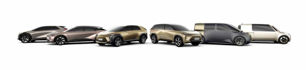 Toyota global electric vehicles range