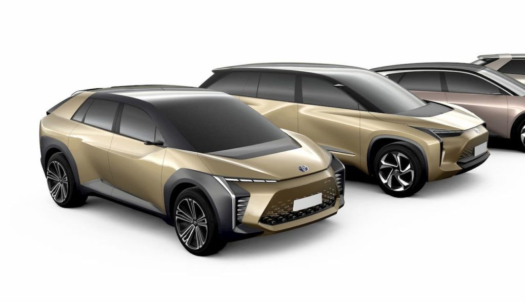Toyota mid size electric car