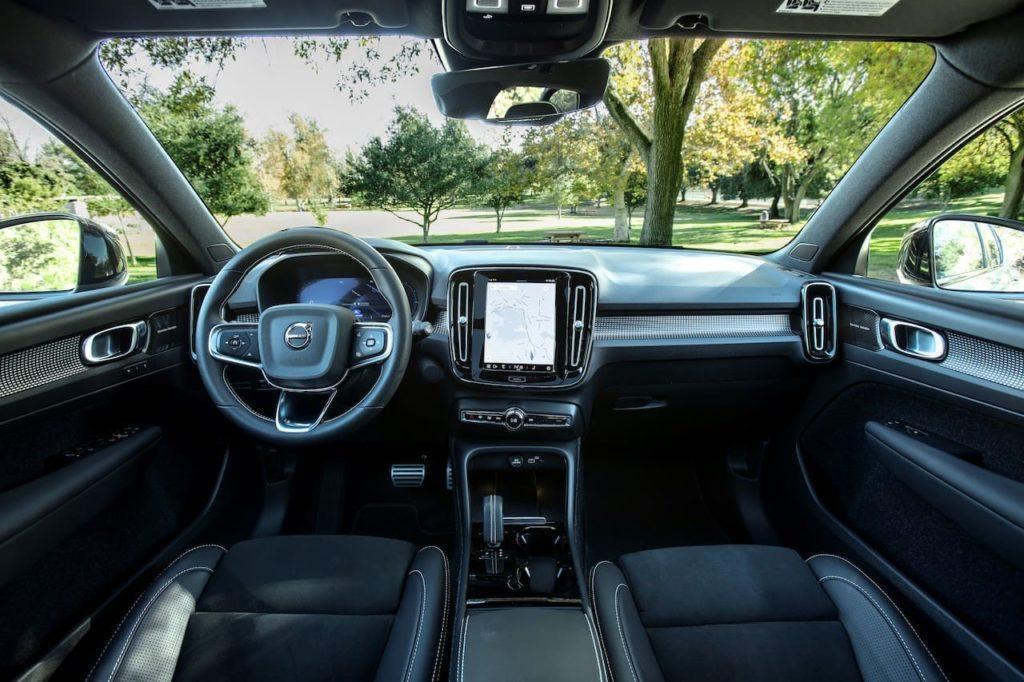 US-spec Volvo XC40 Recharge interior dashboard