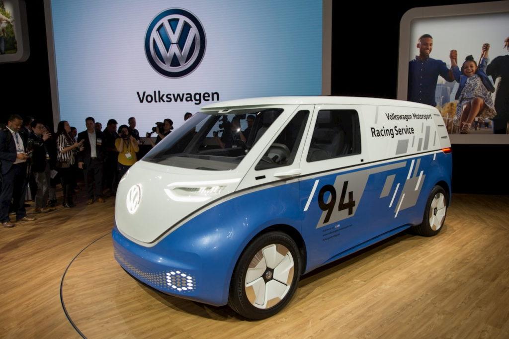 VW ID. Buzz Cargo front quarters LA Auto Show 2018