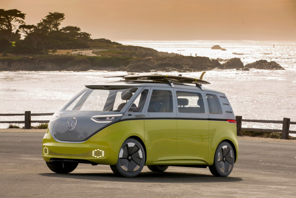 VW ID. Buzz front quarters Pebble Beach