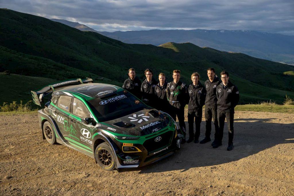 1000 HP Hyundai Kona EV Electric rally car Paddon Rallysport team