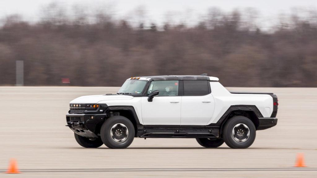 2022 GMC Hummer EV prototype rear quarters