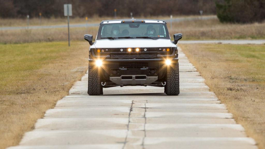 2022 GMC Hummer EV prototype front