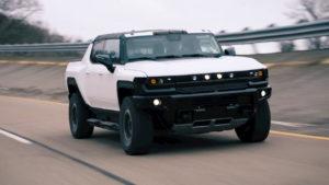 2022 GMC Hummer EV prototype front quarters
