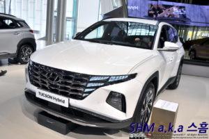 2022 Hyundai Tucson Hybrid front three quarters Korea