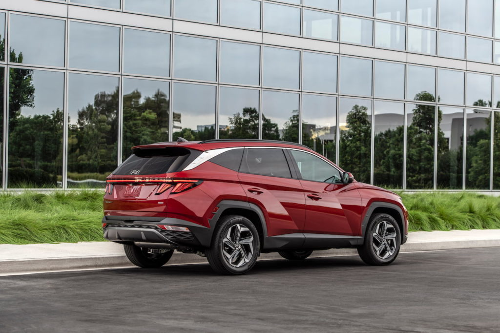 2022 Hyundai Tucson rear quarters
