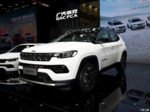 2022 Jeep Compass facelift front three quarters